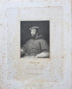 Antique Engraving Print, Cardinal Pole, 1825