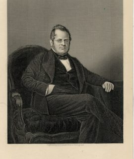Antique Engraving Print, Count Cavour, 1840 ca.