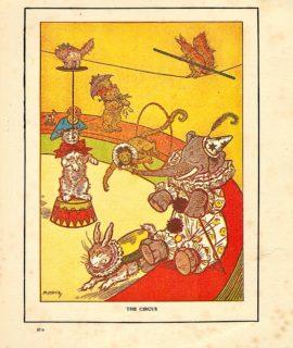 Rare Vintage Print, The Circus, 1919