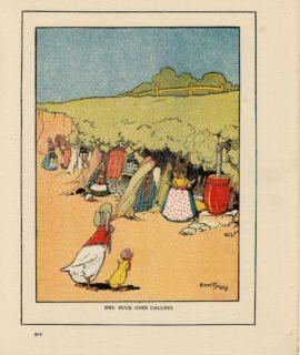 Vintage Print, Mrs. Duck Goes Calling, Ernest Aris, 1919