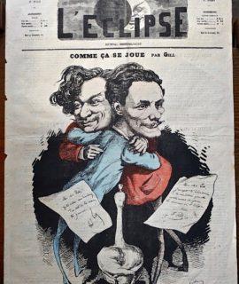 """Rare Périodique, """"L'Éclipse"""", Deuxième Année, n 79, 24 Juillet 1869"""