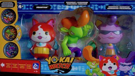Yo-Kai Watch Jibanyan, Roughraff Baddinyan Exclusive Action Figure 3-Pack Excl.