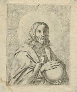 Rare original engraving of Guido Reni, 17th