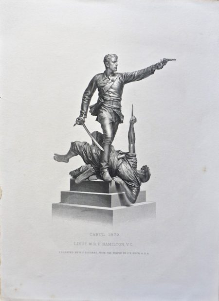 """Antique Engraving Print, """"Cabul 1879, Lieut W.R.P. Hamilton V.C."""", 1882"""