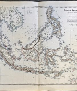 Large Antique Map, Bartholomew, Indian Archipelago, 1870