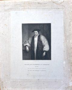 Antique Engraving Print, William Laud Archbishop of Canterbury, 1834