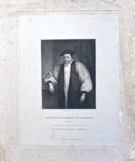 Antique Engraving Print, William Laud Archbishop of Canterbury, 1834