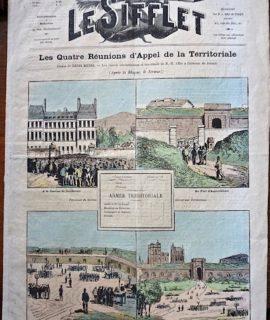 """Rare Périodique, """"Le Sifflet"""", 5me année n. 224, Dimanche 7 Mai 1876"""