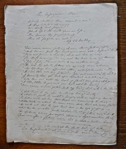 The Unforgiven one, Manuscript late 19th Century