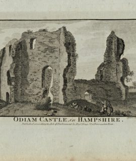 Antique Engraving Print, Odiam Castle in Hampshire, 1770
