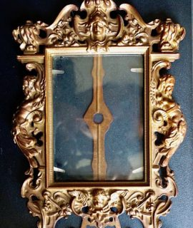 Antique Victorian Brass French Tabletop Photo Frame