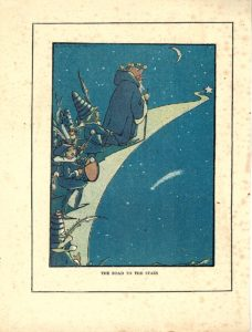 Rare Vintage Print, The Road to the stars, 1919