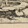 Rare Original Engraving, 1690 ca. Signed