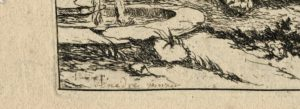 Rare Original Engraving, 1730 ca. Signed