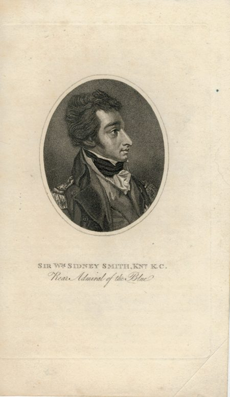 Antique Engraving Print, Sir W.m Sidney Smith, Kn.t K.C. Rear Admiral of the Blue, 1810 ca.