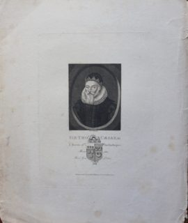 Antique Engraving Print, Sirtho's Caesar, Kn. a Baron the Exchequer, 1810