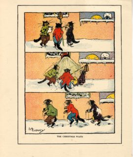 Rare Print, The Christmas Waits, by Lilian Govey, 1919