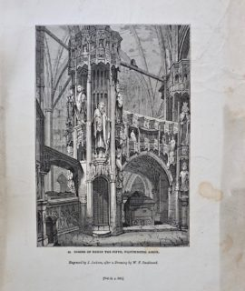 Antique Engraving Print, Shrine of Henry the Fifth, Westminster Abbey, 1835