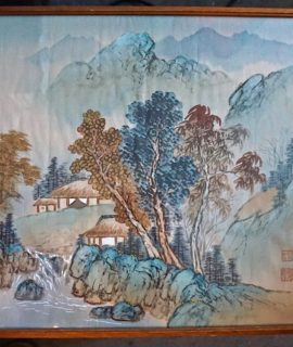 Antique Chinese Landscape Ink on Silk