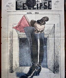 """Rare Périodique, """"L'Éclipse"""", Deuxième Année, n 101, 26 Décembre 1869"""