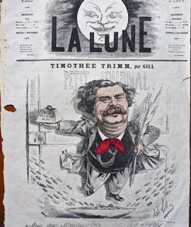 """Rare Périodique, """"La Lune"""", Nouvelle Série, n. 29, 23 Settembre 1866"""