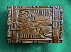 Vintage Small Wooden Carved Box Montana