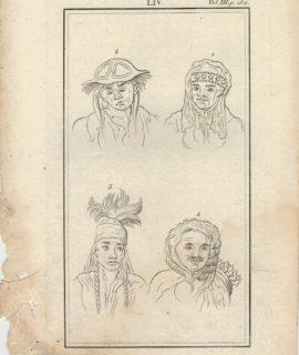 Antique Engraving Print, Portraits, 1750