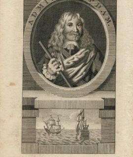 Antique Engraving Print, Admiral Opdam, 1740 ca.