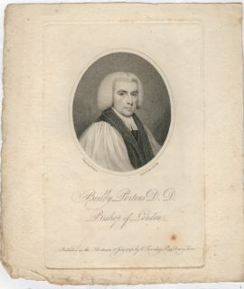 Antique Engraving Print, Beilby Porteus D. D. Bishop of London, 1795