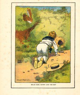 Vintage Print, Billie Basil Bunny and the Boy, 1917 by Stuart Barker