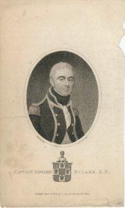 Antique Engraving Print, Captain Edward Buller, R.N., 1806