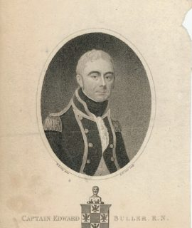 Antique Engraving Print, Captain Edward Buller, R.N., 1806
