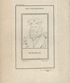 Antique Engraving Print, Burleigh, 1790