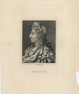 Antique Engraving Print, William III, 1830