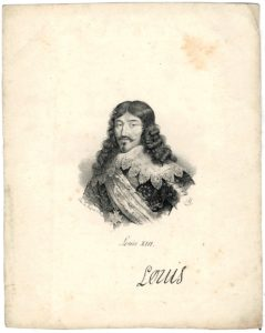 Antique Engraving Print, Louis XIII, 1820 ca.