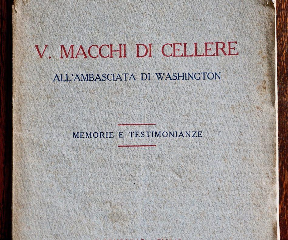 Justus, V. Macchi di Cellere All'ambasciata di Washington, Bemporad & Figlio, 1920