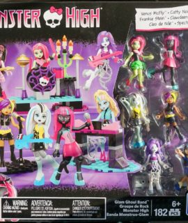 Collectable Mega Bloks Monster High Glam Ghoul Band Building Playset Childrens Toy 182 Pcs