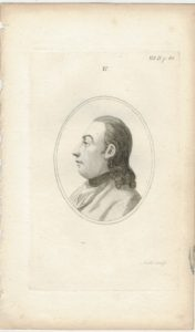 Antique Engraving Print, Portrait, 1820 ca.