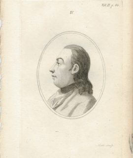 Antique Engraving Print, Portrait, 1785 ca.