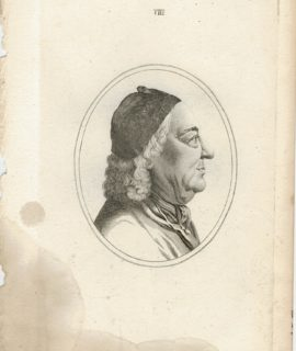 Antique Engraving Print, Portrait, 1790