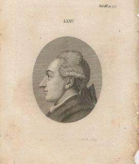 Antique Engraving Print, Portrait, 1790 ca.