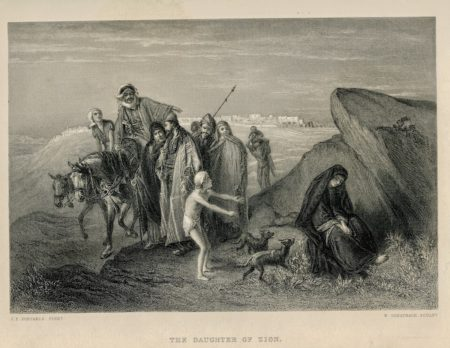Antique Engraving Print, The Daughter of Zion, 1870