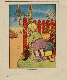 Rare Vintage Print, The Motorcar, 1917