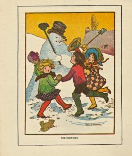 Rare Vintage Print, The Snowman, by Rosa C. Petherick, 1917
