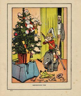 Vintage Print on paper, Mischievous Tom, 1917
