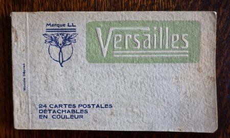 24 Cartes Postales détachables en couleur, Versailles, 1910-20