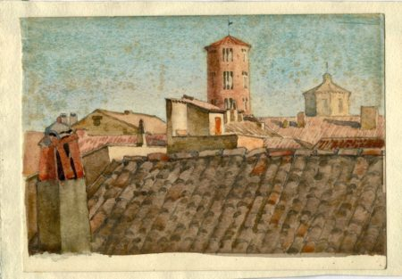Vintage Watercolor on paper