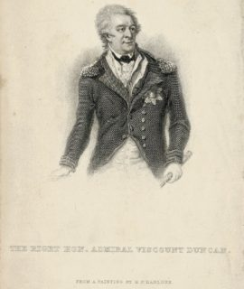 Antique Engraving Print, The Right Hon. Admiral Viscount Duncan, 1859
