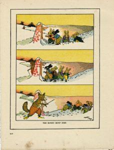 Rare Vintage Print, The Bunny Boy's Joke, by Ernst Aris 1917
