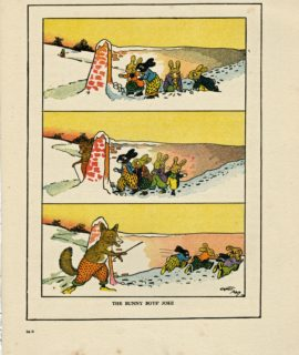 Rare Vintage Print, The Bunny Boy's Joke, by Ernst Aris 1917